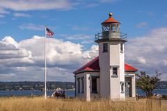 Flying Colors (writing with light 2422 [NOT PRO]) Tags: flyingcolors pointrobinson lighthouse oldglory usflag redwhiteandblue 1915 mauryisland washingtonstate richborder sonya77