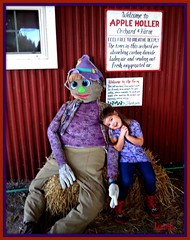 It's that Season Again (Lynn English-busy) Tags: autumn violet scarecrow wisconsin