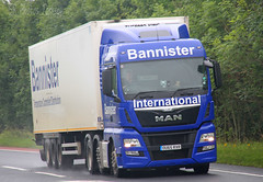 MAN Bannister International OU65 RXR (SR Photos Torksey) Tags: truck transport haulage hgv lorry lgv logistics road commercial vehicle freight traffic distribution man bannister