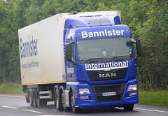 MAN Bannister International OU65 RXR (SR Photos Torksey) Tags: truck transport haulage hgv lorry lgv logistics road commercial vehicle freight traffic distribution man bannister