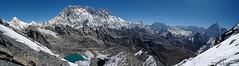 Everest Trail Panorama (Tony Hodson | www.tonyhodson.com) Tags: everest outdoors mountains climbing expedition mountaineering trekking trail altitude nepal kathmandu lukla namche wow blue white ice snow nature contrast