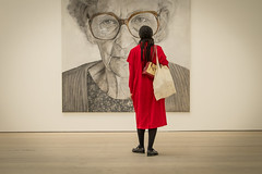 In Your Eyes - At Saatchi Gallery (Lars Denker) Tags: london2016 red art saatchi gallery london modern jelena bulajic painting ljubica