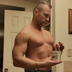 Fit ice cream (ddman_70) Tags: shirtless pecs muscle noshirt barechest ice cream