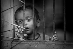 Inde: enfant dans le village de Bijaipur (rajasthan). (claude gourlay) Tags: inde india asie asia indedunord northindia claudegourlay portrait retrato ritratti people face rajasthan bijaipur chittaugarth nb noiretblanc blackandwhite bw enfant child