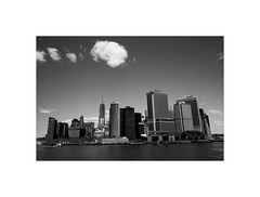 New York City from a quiet view, 2015 (Laurent Camus) Tags: blackandwhite noiretblanc fujifilm xseries classic tilo xpro1