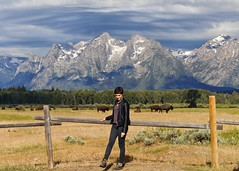 self, grand tetons (~Abby) Tags: wyoming grandtetons bison buffalo july portrait selfportrait