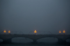 Foggy Morning (Phil Roeder) Tags: desmoines iowa canon6d canonef70200mmf4lusm fog bridge river morning