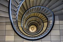Again upwards (Elbmaedchen) Tags: staircase stairs roundandround lookingdown spirale treppenauge helix hamburg wetterrose bsh