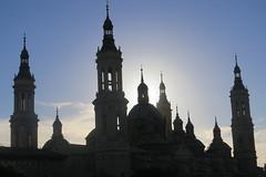 Towers & domes of the Pilar cathedral (oursonpolaire) Tags: camino2016 catalonia saragossa zaragoza