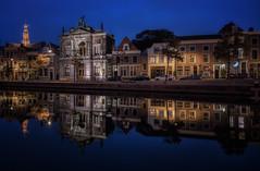 Teylers museum, Haarlem (urbanexpl0rer) Tags: haarlem nederland holland noordholland teylersmuseum water waterreflections restoration historicalcity oldcity museum longexposure night nightphotography