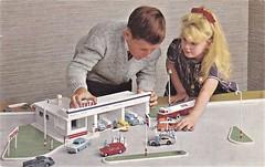 Postcard Station-Service Total (mugicalin) Tags: postcard cartepostale oldpostard station stationservice petrolstation lego enfants children jeux games total
