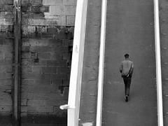 walking alone (Cassio Piccolo) Tags: noiretblanc pretoebranco pb bianconero blackwhite street streetphoto monocromatico monochrome