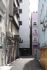 (yangkuo) Tags: mzuiko25mm pastel street kualalumpur backlane indigo blue yellow surprise windows box square clean architecture buildings city