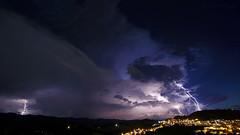 Thunderstrike / Raio Ataque ( JuareZeitgeist) Tags: lightnings raios tempestade thunder storm thunderstorm clouds cb thunderhead stormscape landscape paisagem