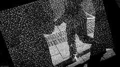 Aboriginal art... (jaap spiering   photographer) Tags: jaapspiering jaapspieringphotographer jaapspieringfotografie blackandwhite monochrome zwartwit bw noiretblanc streetphotography street people mens mensen gx8 fremantle art aboriginalart