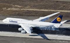 Lufthansa 747-8 D-ABYQ (birrlad) Tags: lax losangeles international airport california usa aircraft aviation airplane airplanes airline airliner airlines airways approach arrival arriving finals landing landed runway