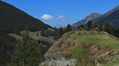 Bourg St-Pierre (bulbocode909) Tags: valais suisse bourgstpierre valdentremont montagnes nature forts arbres chalets raccards nuages paysages vert bleu