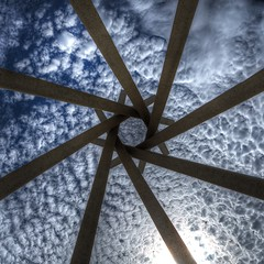 Aerial Pinwheel (gordeau) Tags: pinwheel clouds lookingup madeofconcrete abstract gordon ashby gordeau cloudscape square unanimous