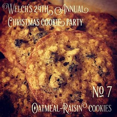 No. 7 Oatmeal-Raisin | Welch's 24th Annual Christmas Cookie Party One of my wife's favorites, it's always important to make a good batch. I even had to make this one a second time as the first batch didn't turn out too well. I don't tend to make cookies m (dewelch) Tags: ifttt instagram no 7 oatmealraisin | welchs 24th annual christmas cookie party one wifes favorites its always important make good batch i even had this second time first didnt turn out too well dont tend cookies much during other parts year is usually her only chance get special treat food bake baking oatmealcookies family