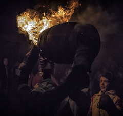 TB1 (Rockman of Zymurgy) Tags: ottetystmary devon uk tarbarrel tar barrels flame flaming fire crowd scorch barrel alight