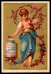 Liebig Tradecard S94 - Girls in Branches (cigcardpix) Tags: tradecards advertising ephemera vintage chromo liebig beauty victoriana