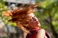 Vicky (hector_cbs) Tags: mercadodemotores people candid street streetphotography redhair hair movement color colorful dance swing dancer bailarina