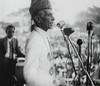 Jinnah in a public meeting (Doc Kazi) Tags: pakistan india independence negotiations ceremonies jinnah gandhi nehru mountbatten viceroy wavell stafford cripps edwina fatima muhammad ali