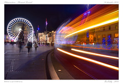 Illuminations - Christmas Tramway (BerColly) Tags: france auvergne puydedome clermontferrand nuit night illumibnations noel christmas roue wheel tramwauy shadow bercolly google flickr