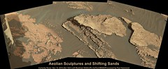 Mars: Aeolian Sculptures and Shifting Sands (PaulH51) Tags: curiosityrover msl mars planetmars nasa jpl caltech galecrater science exploration discovery geology rocks mosaic leftmastcamera malinspacesciencesystems msss nasajplcaltechmsss volcanicsands sand sedimentaryrocks sedimentarylayering erosion aeolianlandscape scalebaradded