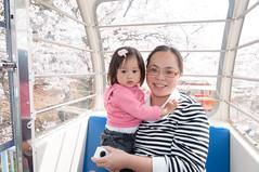 With mom (Wunkai) Tags: hitachishi ibarakiken japan  jeanwang   sakura    amusementpark ferriswheelcabin  recreationalfacility