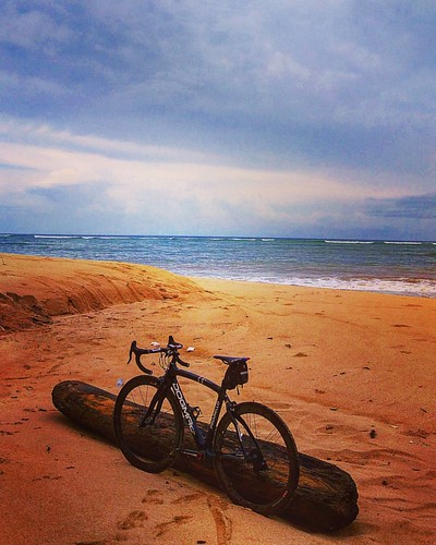 Alone #bike #bicycle #tour #beach #sand #sky #instagram
