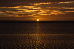 27 September 7pm (cathbooton) Tags: september horizon canonusers canon6d canoneos clouds sky merseyside wirral sunset sun lake water