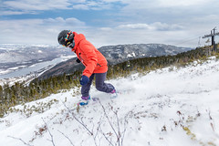 Snowboarder (Newfoundland and Labrador Tourism) Tags: western winter snow snowboard board snowboarding boarding snowboarder boarder marble mountain hill top view