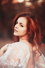 Lauren IV (Alessia.Izzo) Tags: girl portrait autumn redhead red hair bokeh fairy lace beauty canon photography orange