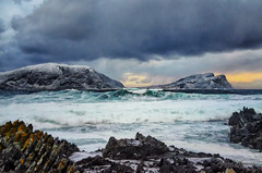 Winter day by the sea (Usstan) Tags: wind nikon winter water mountains day sea norway seasons sunnmre runde d7000 hery landscape 1685mm westcoast seaspray outdoor clouds locations cold ocean lens rocks norge nerlandsy mreogromsdal sky seascape waves rain costal nikkor no