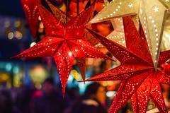 At the Christmas Market (marionrosengarten) Tags: stern weihnachtsmarkt christmasmarket lights bokeh twinkle star nikon nikon50mmf18 festbrennweite primelens moody atmospheric bubblebokeh bubbles shallowdof darmstadt red colours farben leuchten rot bunt coloured offenblendig openaperture sparkle stimmungsvoll weihnachtlich