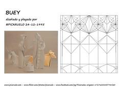 Ox - CP (PICARUELO) Tags: origami papiroflexia ox buey belen christmas navidad nativity wetfolding