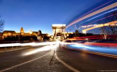 Chain Bridge Traffic Flow (kalbasz) Tags: traffic chainbridge flow hungary night budapest outdoor architecture long longshoot
