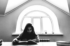 ,    . (plotkamusic) Tags: portrait indoor armenian girl library greyscale monochrome blackandwhite