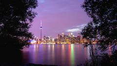 Toronto pink sunset (mariusz kluzniak) Tags: mariusz kluzniak north america canada ontario toronto sunset sky cityscape long exposure