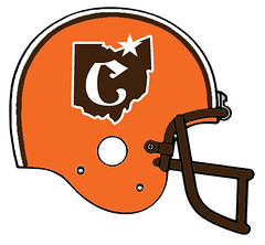 Cleveland Browns alternate (Flagman00) Tags: football helmet redesign fantasy nfl cleveland browns alternate