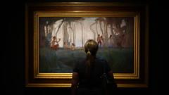 Ambre looking at art (@fotodudenz) Tags: sony a7 voigtlander hobart tasmania 2016 nokton 40mm 14 classic sc 4014 mona museum old new art