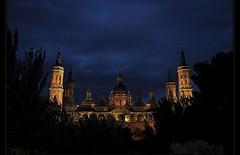 Baslica del Pilar (Nocturna) (Vilchez57) Tags: foto fotografa fotgrafo baslica basilicadelpilar pilar nocturna zaragoza espaa torres cielo arquitectura edificio vilchez57