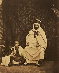 Muhammad Ben Serir (Biskra's Qad) and his son 1856-1857 (Benbouzid) Tags: mohammed mohamed ben ibn bin sarir serir srir biskra algeria algerie