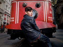 Tram ride - Istanbul (Tilemachos Papadopoulos) Tags: qoq red turkey urban istanbul people street tram mirrorless istiklal beyoglou pera