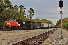 CN 5635 in Lake View, MS (James Patrick Kolwyck) Tags: cn canadian national ic illinois central emd sd75i sd70 deathstar grain train lake view ms mississippi railfan railroad photography