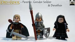 Faramir, Gondor Soldier & Denethor (Random_Panda) Tags: lego figs fig figures figure minifigs minifig minifigures minifigure purist purists character characters film films movie movies television tv lord of the rings lotr hobbit gondor middle earth middleearth tolkien faramir soldier denethor knight fantasy
