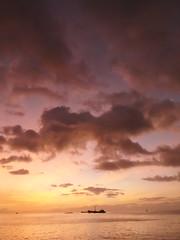 Sunset, lagoon side, Kiribati!