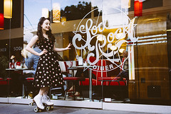 Soda Rock Diner - Jam Factory, Melbourne (Naomi Rahim (thanks for 4 million visits)) Tags: sodarock sodarockdiner diner restaurant cafe melbourne victoria australia southyarra jamfactory 2016 retro american oldschool vintage girl waitress rollerskates exterior model rockabilly chapelst nikon nikond7200