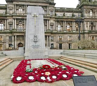 Cenotaph George Square Glasgow Scotland December 2016
